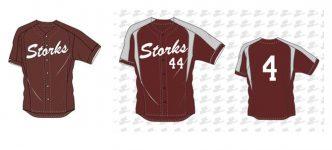 Storks shirt (rechts optioneel voor selectieteams, links voor alle teams)